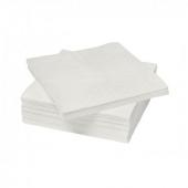САМАРИТ Салфетка бумажная, белый, 24x24 см