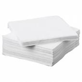 ФАНТАСТИСК Салфетка бумажная, белый, 24x24 см