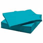ФАНТАСТИСК Салфетка бумажная, бирюзовый, 40x40 см
