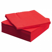 ФАНТАСТИСК Салфетка бумажная, красный, 40x40 см