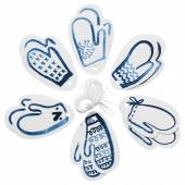 ВИНТЕР 2019 Ярлыки д/подарков, белый, синий, 4.5x7 см