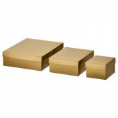 ВИНТЕР 2019 Коробка подарочная,3 штуки, золотой