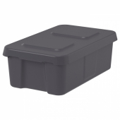 КЛЭМТАРЕ Контейнер с крышкой,д/дома/сада, темно-серый, 58x45x30 см