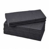 МОТТАГА Салфетка бумажная, черный, 38x38 см