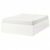БРИМНЭС Каркас кровати с ящиками, белый, 160x200 см