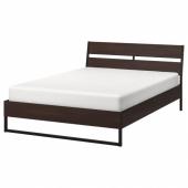 ТРИСИЛ Каркас кровати, темно-коричневый, Лурой, 140x200 см
